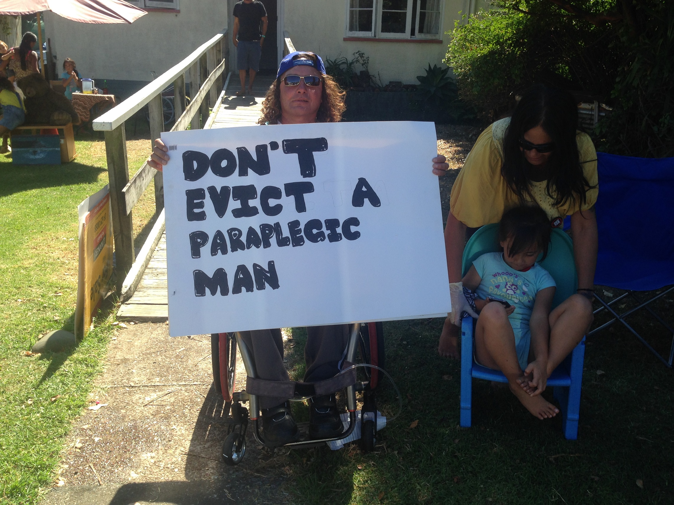 Paraplegic man to be evicted on Monday POSTPONED