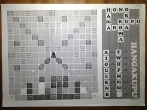 The Maori language Scrabble game