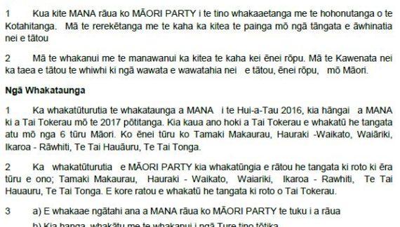 He Kawenata MANA MAORI